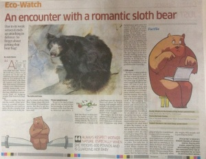 An Encounter with a Romantic Sloth Bear