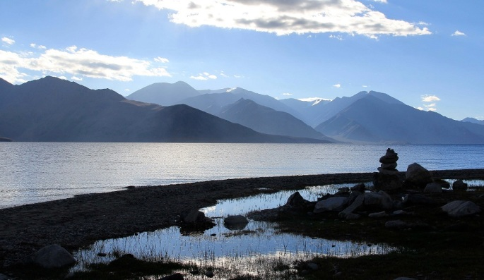 A Tranquil morning at Pangong Tso