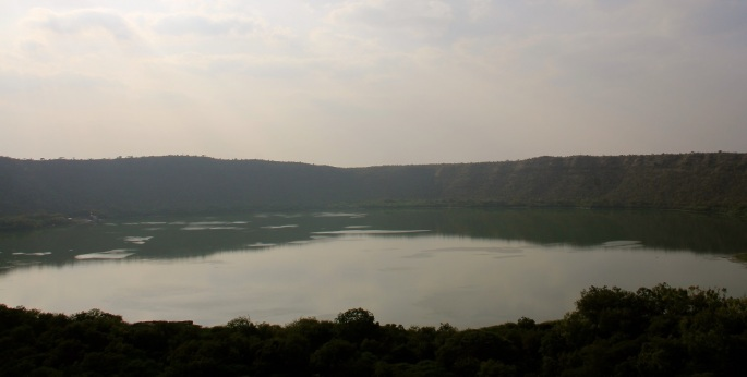 Lonar lake before sunset by Adityavikram More