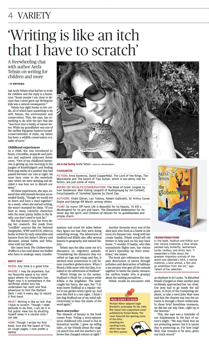 The Hindu interview