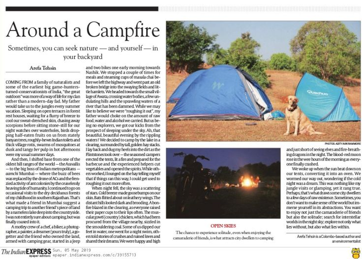 The Indian Express - Around a Campfire